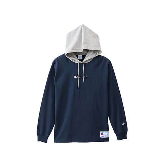 LONG-SLEEVED HOODED T-SHIRT 18FW NAVY GRAY