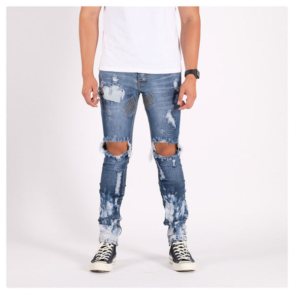 M1 DENIM PANTS SEA BLUE SPLASH