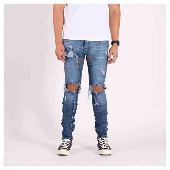 M1 DENIM PANTS SEA BLUE