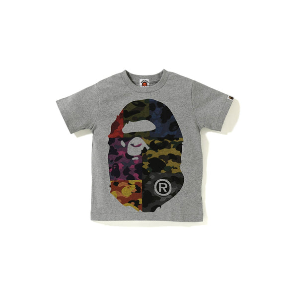 MIX CAMO BIG BIG APE HEAD KIDS TEE GRAY