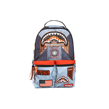 MI$$ION TO MARS: SHARK PATCHES (BUZZ ALDRIN COLLAB) BACKPACK