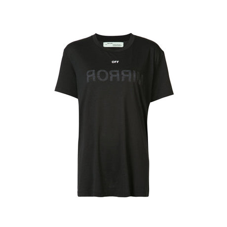 OFF MIRROR TEE BLACK