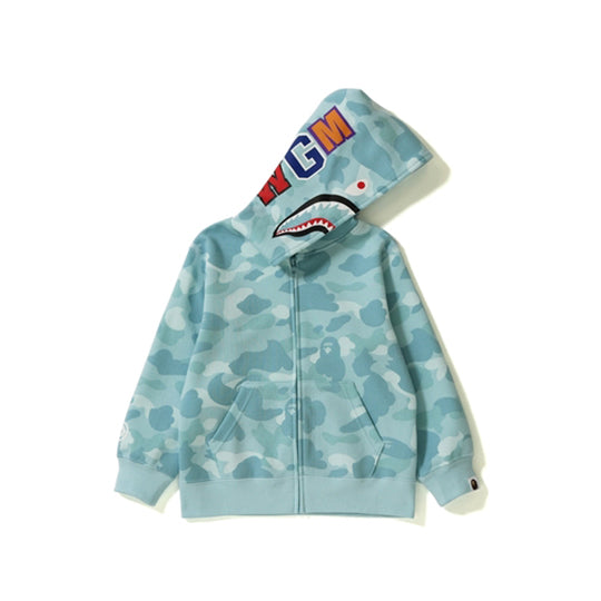PASTEL COLOR CAMO SHARK ZIP BLUE