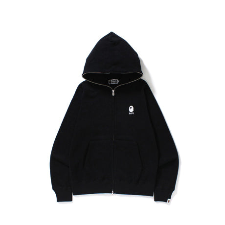PILE FULL ZIP HOODIE MEN BLACK