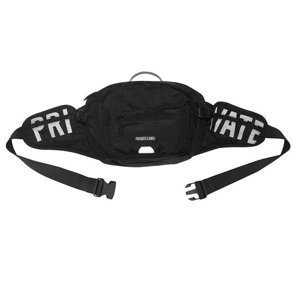 PRIVATE LABEL WAIST BAG BLACK REFLECTIVE