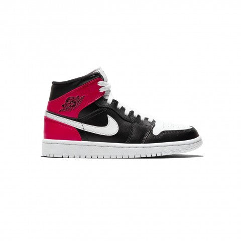 AIR JORDAN 1 MID BLACK NOBLE RED (W)