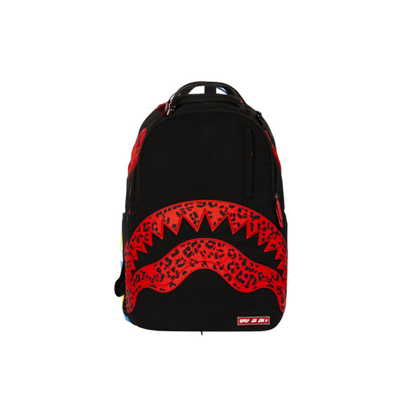 RED LEOPARD RUBBER SHARK BACKPACK