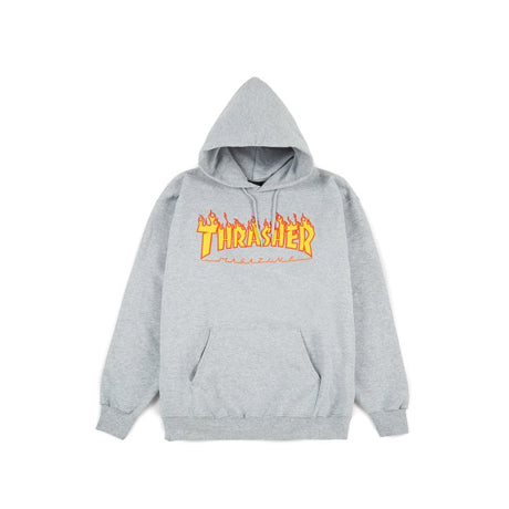 THRASHER FLAME PULLOVER CHARCOAL