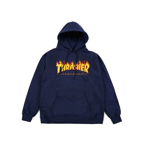 THRASHER FLAME PULLOVER NAVY