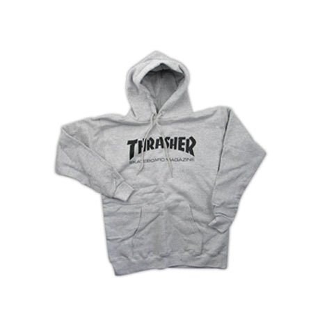 THRASHER SKATE MAG CLASSIC PULLOVER HEATHER GRAY