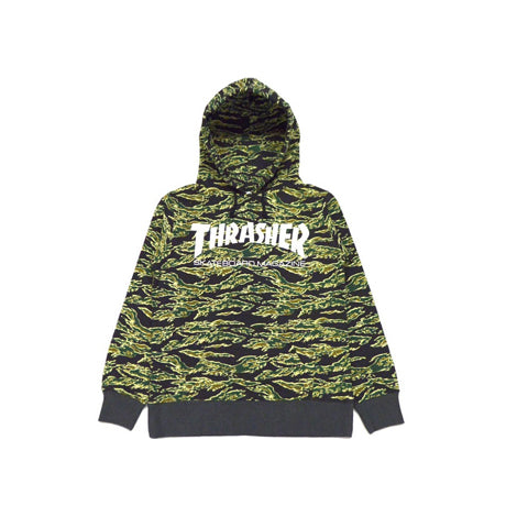 THRASHER TIGER CAMO / WHITE MAG PULLOVER HOODIE