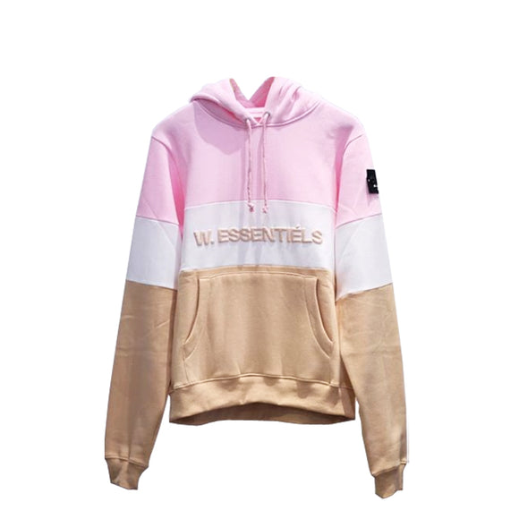 TRICOLORE HOODIE FW18 TAN WHITE PINK