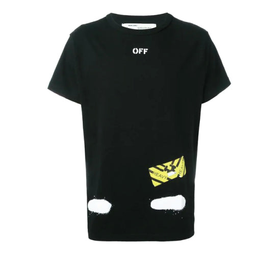 DIAG SPRAY S/S TEE BLACK WHITE