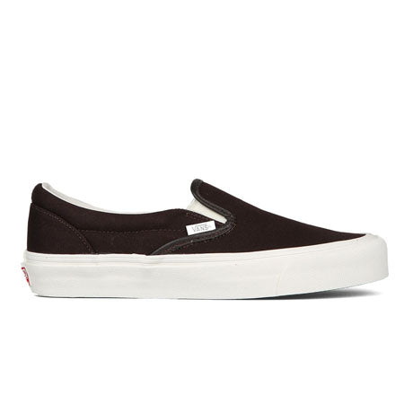 VANS OG CLASSIC SLIP-ON BLACK WHITE CANVAS