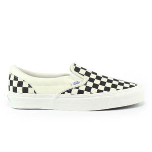 VANS OG CLASSIC SLIP-ON BLACK WHITE CHECKERBOARD CANVAS