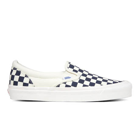 VANS OG CLASSIC SLIP-ON NAVY CHECKERBOARD