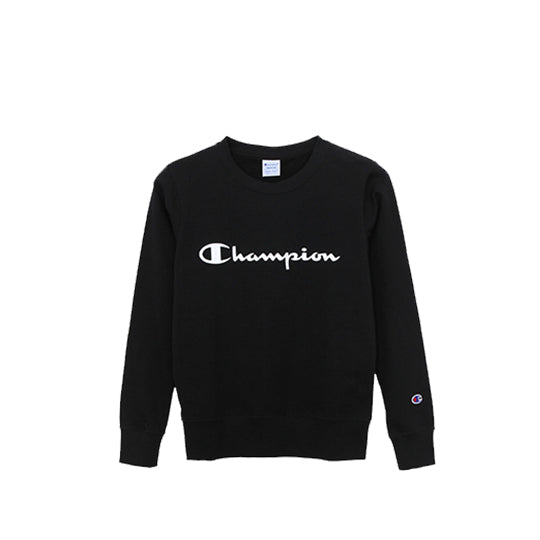 WOMENS CREWNECK BLACK WHITE