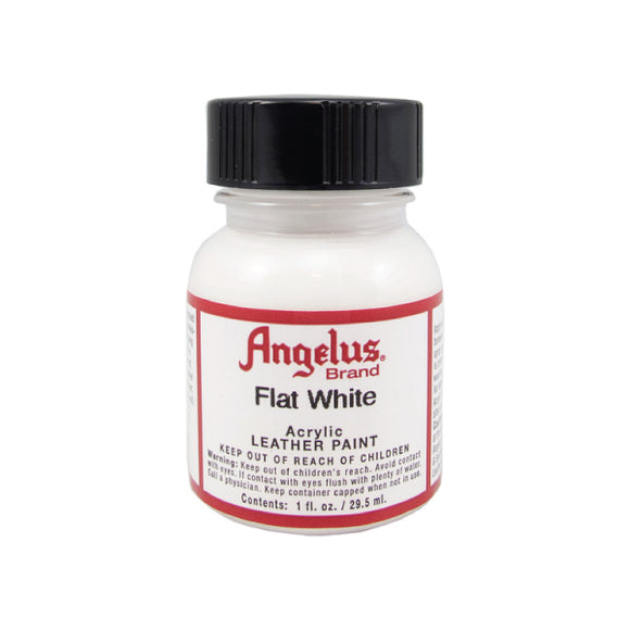 Angelus Flat White Acrylic Leather Paint 1 fl oz