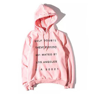 ASSC HOODIE SELF DOUBT PINK WHITE