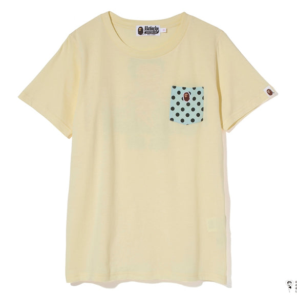BETTY BAPE POCKET TEE LADIES YELLOW