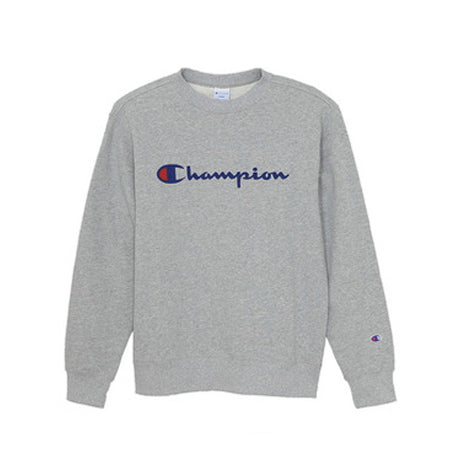 CHAMPION LOGO CREWNECK GREY