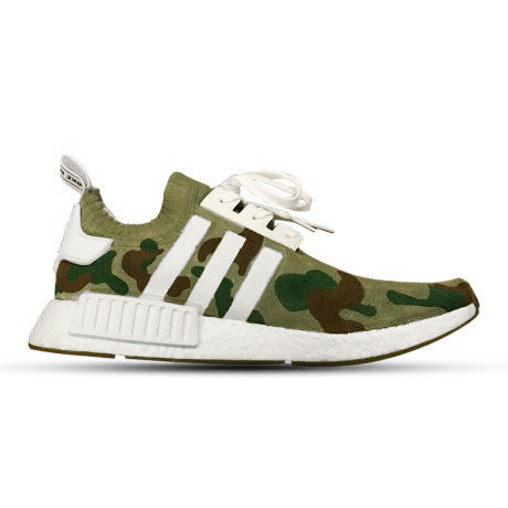 NMD R1 GUM PACK WHITE CUSTOM CAMO GREEN