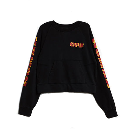RAYS PLEAT CREWNECK BLACK