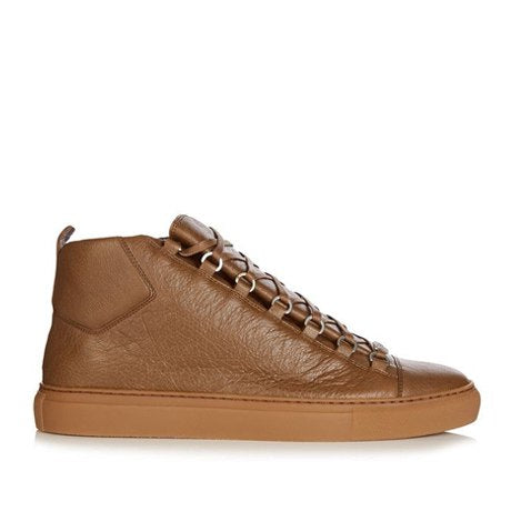 HIGH SNEAKERS LEATHER BROWN