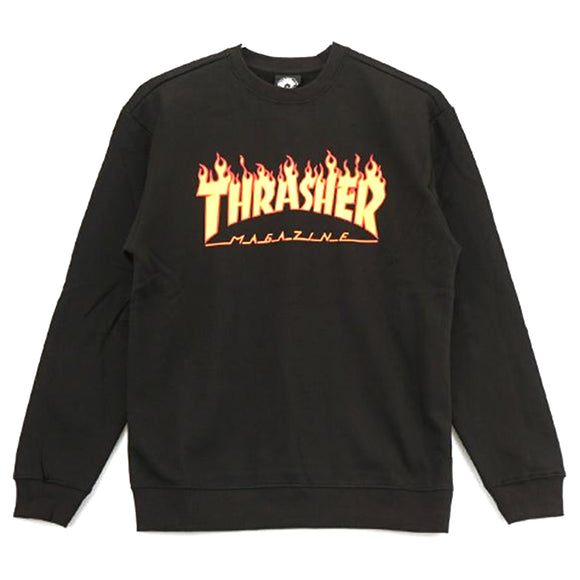 FLAME CREWNECK BLACK