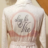 Slay La Vie Short Robe- Wrap-Up VIP