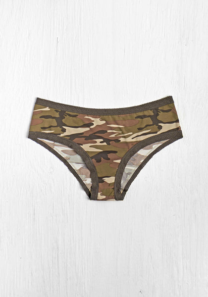Camo Lace Trim Hipster