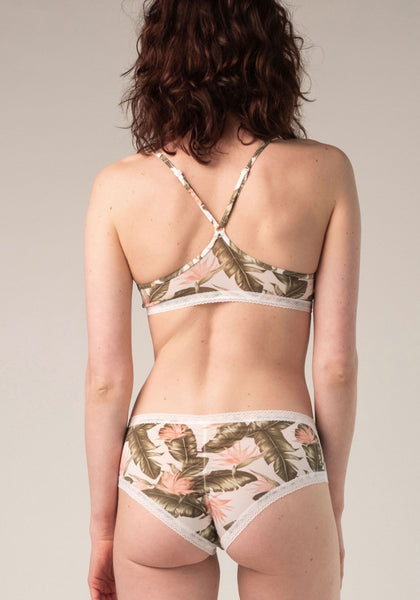 Blush Jungle Racerback Bralette