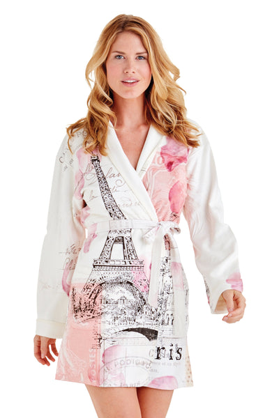 Paris Short Robe With Stone Embellishment
