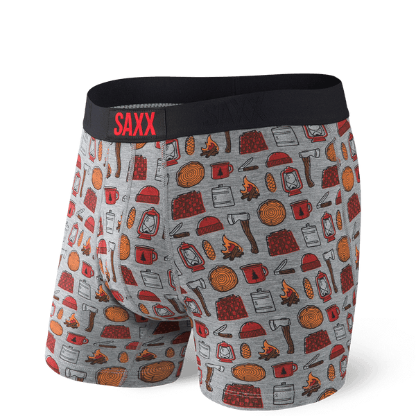 SAXX Ultra Grey lumber Jack Boxer Brief