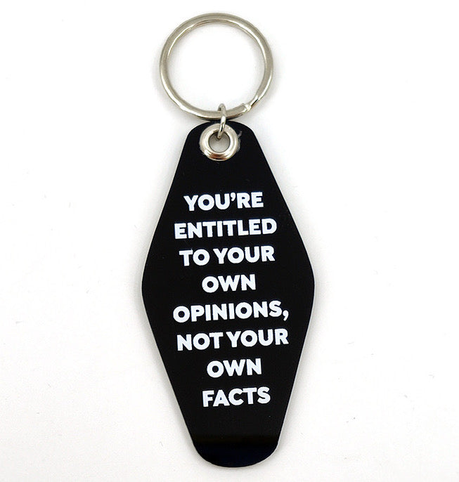 """You're Entitled To Your Own Opinions..."" Keychain - Offensive Crayons"