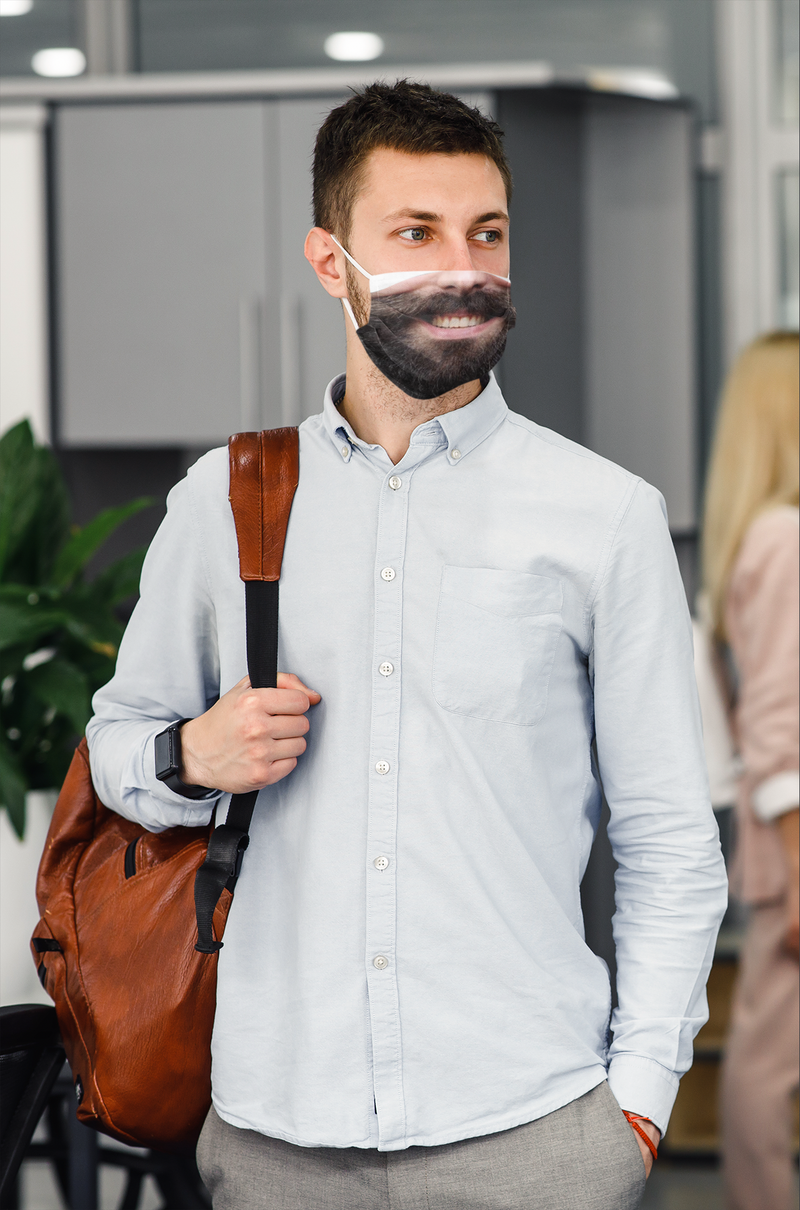 Bearded Man Face Mask