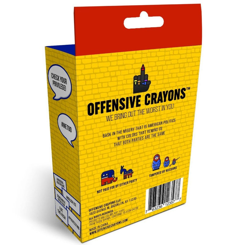 """Red, White, and F*ck You"" Edition - Offensive Crayons"