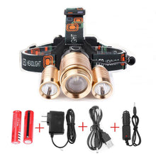 Load image into Gallery viewer, Superbright 3 LED Head Lamp Waterproof Adjustable Charging Headlamp