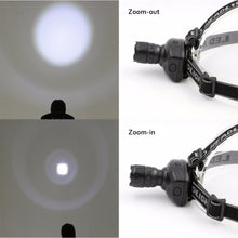 Load image into Gallery viewer, Portable 3 Mode LED Zoomable Headlamp
