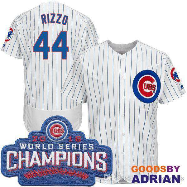 best service 7f8cd ca34a 2017 Men's Chicago Cubs Anthony Rizzo 9 World Series Champions Gold  Baseball Jerseys
