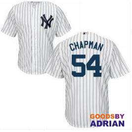 New York Yankees  54 Aroldis Chapman NY Baseball Jerseys Shirt Cool Base Stitched-Baseball Jerseys - GoodsByAdrian