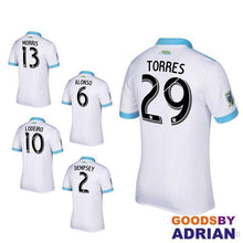 Load image into Gallery viewer, Seattle Sounders White Soccer Jerseys- - GoodsByAdrian