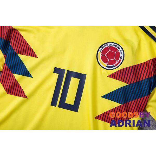 ... colombia 10 james home 2018 fifa world cup soccer jersey c73f0107a