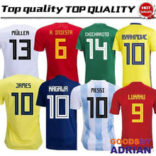 Load image into Gallery viewer, 2018 World Cup Spain, Argentina, Japan, Colombia, Belgium, Russia, Mexico, Sweden Soccer Jerseys-Soccer Jerseys - GoodsByAdrian