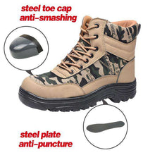 Load image into Gallery viewer, Men spring summer Steel Toe Caps Work Safety Shoes Anti-Smashing Puncture Proof Shoes Durable Breathable Protective Shoes- - GoodsByAdrian