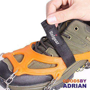Traction Cleats Winter Snow Grips with 18 Spikes for Walking, Jogging, Climbing and Hiking- - GoodsByAdrian