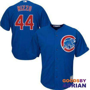 2017 Men's Chicago Cubs Anthony Rizzo 9 World Series Champions Gold Baseball Jerseys-GoodsByAdrian