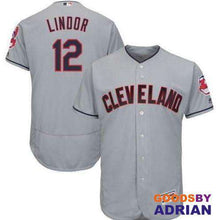 Load image into Gallery viewer, Cleveland Indians Francisco Lindor Replica Majestic Jersey, Breathable Mens, Dry-Jersey - GoodsByAdrian
