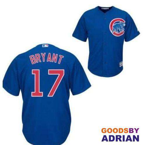 meet 89dec b8eba 2017 Men's PRO Replica Chicago Cubs Jersey Kris Bryant, World Series 2017  MVP