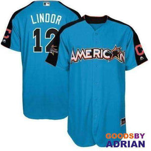 Cleveland Indians Francisco Lindor Replica Majestic Jersey, Breathable Mens, Dry-Jersey - GoodsByAdrian